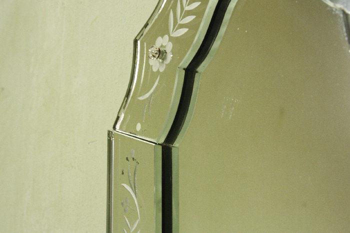 アンティークヴェネチアンガラスミラーmi9m画像4