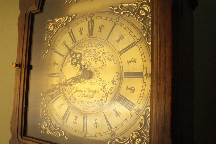 アンティーク柱時計(グランドファーザークロック)sok16m 画像5左側