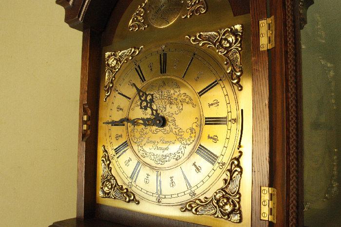アンティーク柱時計(グランドファーザークロック)sok16m 画像8左側