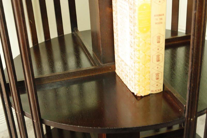 アンティークエドワーディアン・リボルビングブックケースsok7i画像2左側
