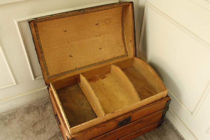 アンティークトランク(木箱)sok9i画像2左側