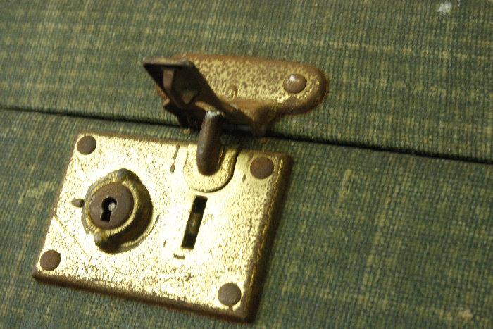アンティークトランク(スーツケース)soz11m画像11左側