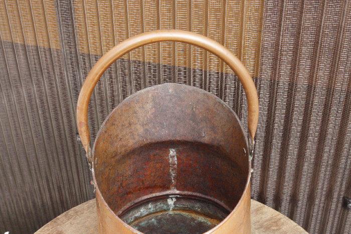 アンティークコッパーコールバケットsoz7m画像5左側