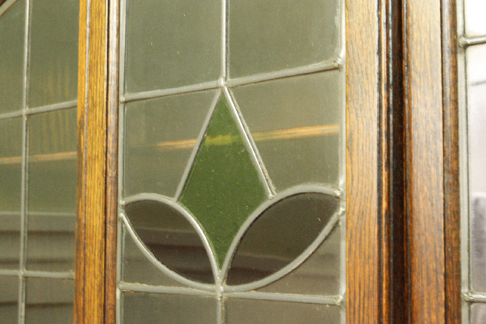 アンティークステンドグラス・ブックケースcb13k 画像11左側