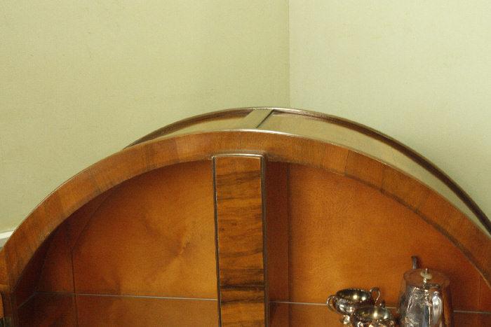 アンティークアールデコグラスキャビネットcb20k画像8左側