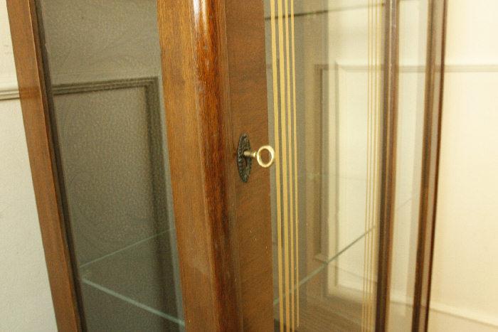 アンティークグラスキャビネットcb28m画像6右側