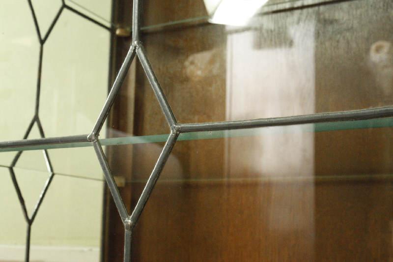 アンティーククリア・ステンドグラス グラスキャビネットcb3i画像3右側