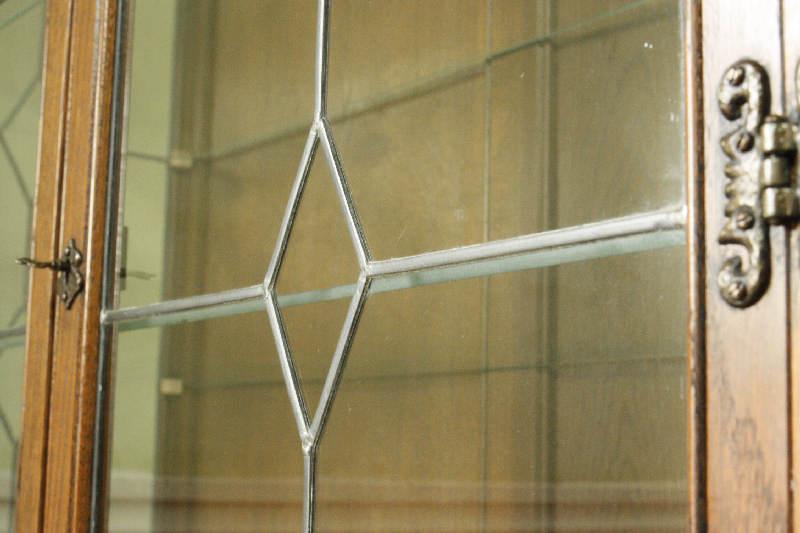 アンティーククリア・ステンドグラス グラスキャビネットcb3i画像15右側
