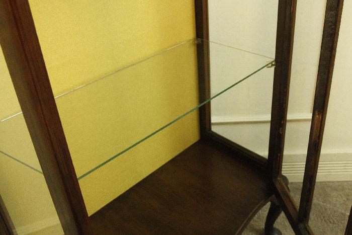 アンティークグラスキャビネットcb54k 画像11左側