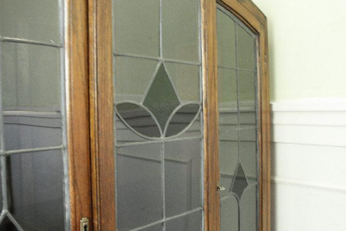 アンティークステンドグラス ブックーケースcb9m画像3右側