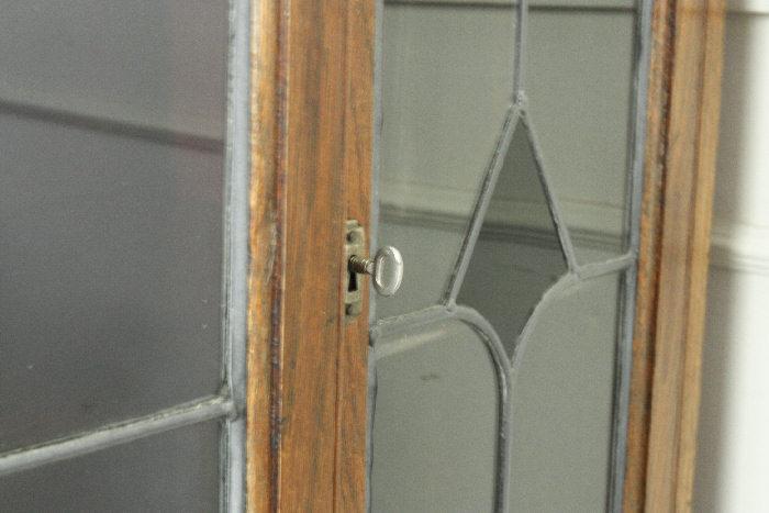 アンティークステンドグラス ブックーケースcb9m画像6右側