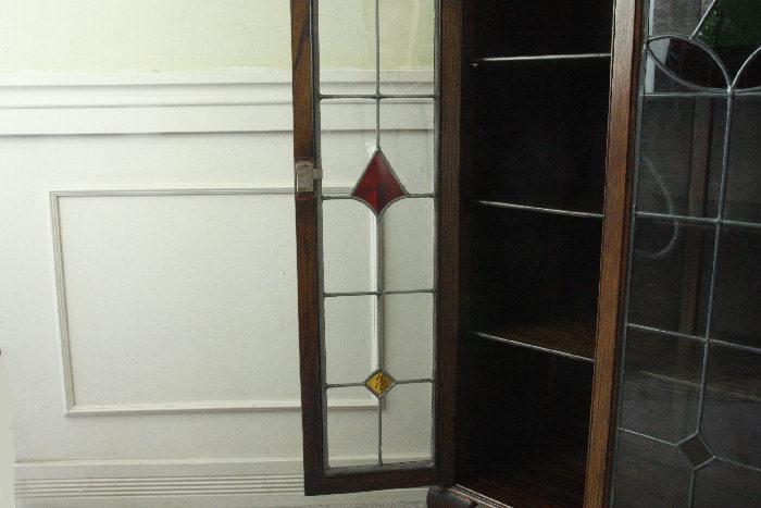 アンティークステンドグラス ブックーケースcb9m画像8左側