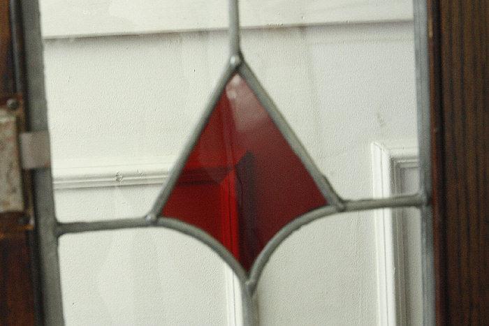 アンティークステンドグラス ブックーケースcb9m画像11左側