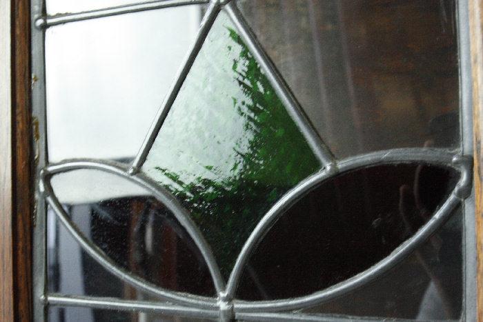 アンティークステンドグラス ブックーケースcb9m画像14左側