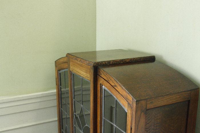 アンティークステンドグラス ブックーケースcb9m画像18右側