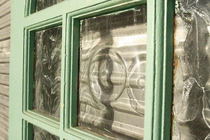 アンティークガラスドアdr23m画像6右側