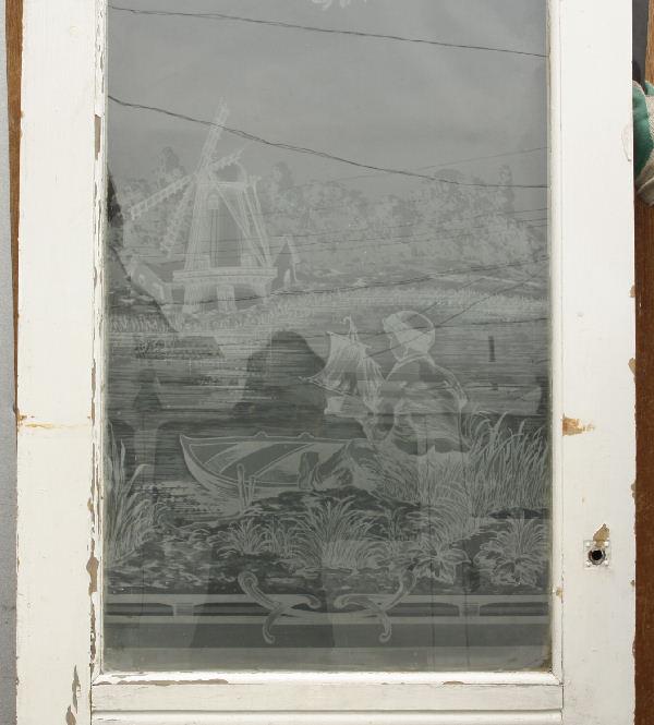 アンティークエッチングドアdr30c画像5左側