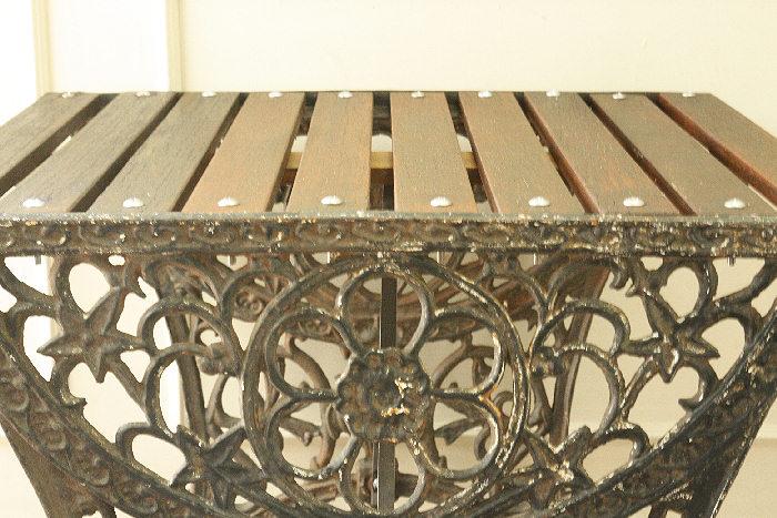 アンティークアイアンガーデンテーブルtb11m画像12右側