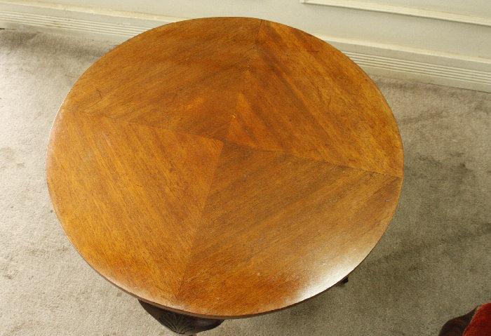 アンティークラウンドコーヒーテーブルtb19i画像3右側
