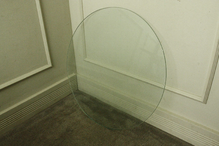 アンティークフレンチガラストップテーブル画像11左側