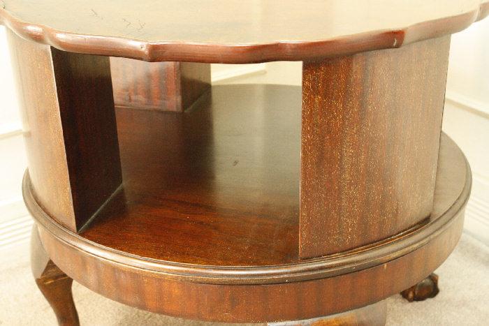 アンティークリボルビングブックテーブルtb21i 画像6右側