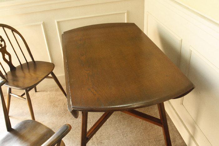 アンティークアーコールドロップリーフテーブルtb25k画像1
