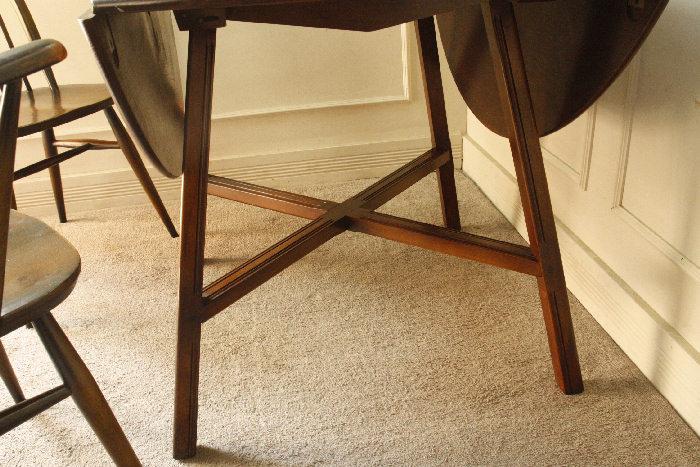 アンティークアーコールドロップリーフテーブルtb25k画像2左側