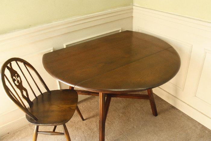 アンティークアーコールドロップリーフテーブルtb25k画像12右側