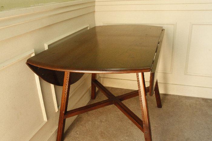 アンティークアーコールドロップリーフテーブルtb25k画像14左側