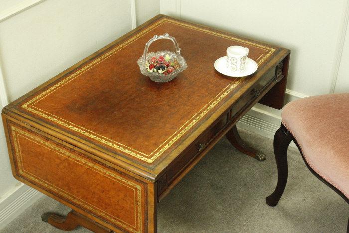 アンティークバタフライコーヒーテーブルtb30k画像3右側