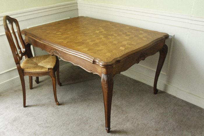 アンティークルイ15世フレンチダイニングテーブルtb37k画像1