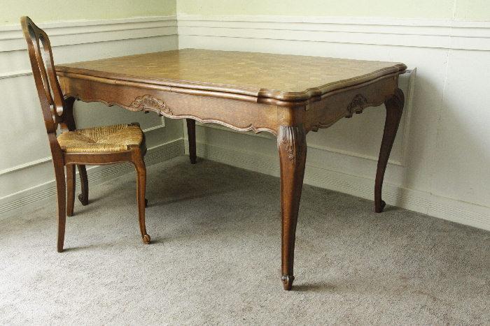 アンティークルイ15世フレンチダイニングテーブルtb37k画像2左側