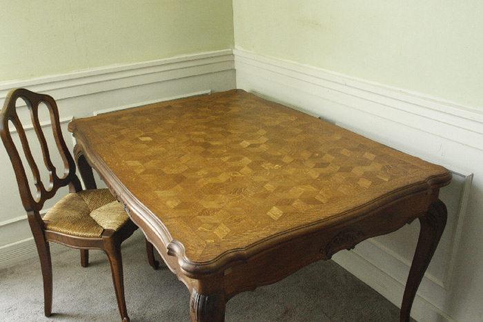 アンティークルイ15世フレンチダイニングテーブルtb37k画像3右側