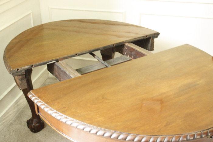 アンティークエクステンション・ダイニングテーブルtb39k 画像20左側