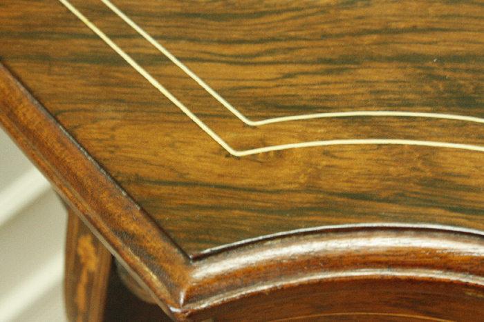 アンティークローズウッドサイドテーブルtb4k 画像11左側